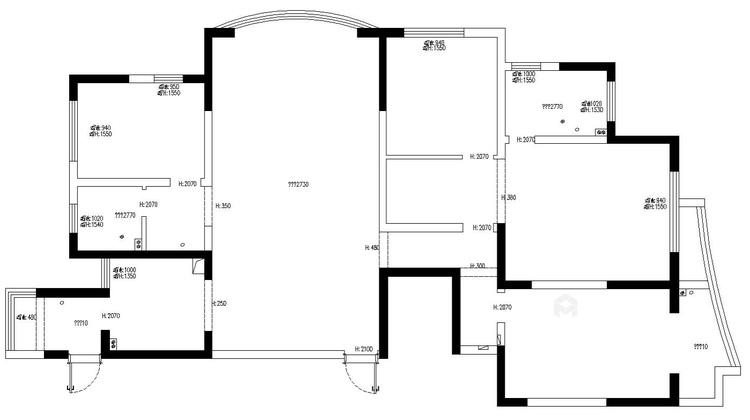 186平雍璟台美式风格-岁月有你-业主需求&原始结构图