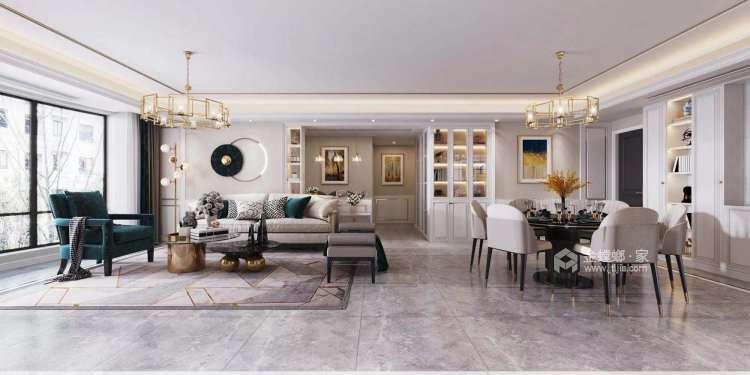 186平雍璟台美式风格-岁月有你-餐厅效果图及设计说明