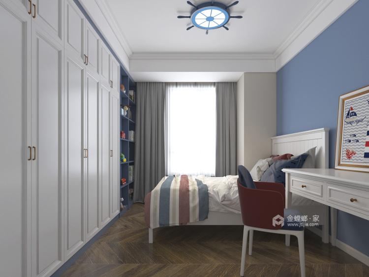 140平荷澜庭美式风格-卧室效果图及设计说明