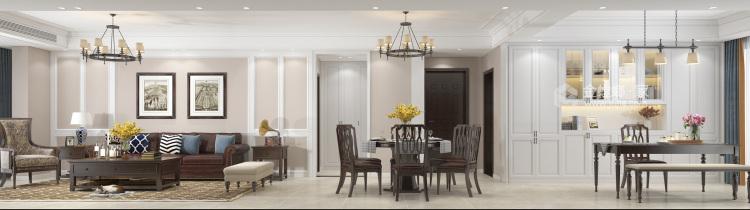 140平荷澜庭美式风格-餐厅效果图及设计说明