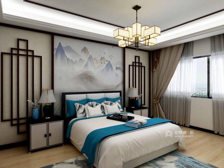 138平黄金时代新中式风格-卧室效果图及设计说明
