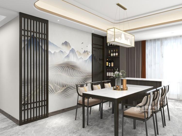 138平黄金时代新中式风格-餐厅效果图及设计说明