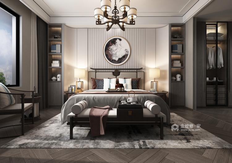360平大公馆新中式风格—东方意蕴-卧室效果图及设计说明
