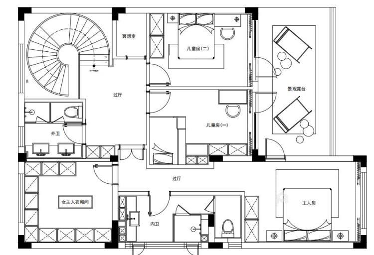 460平中信森林湖现代风格-现代极简完美生活-平面设计图及设计说明