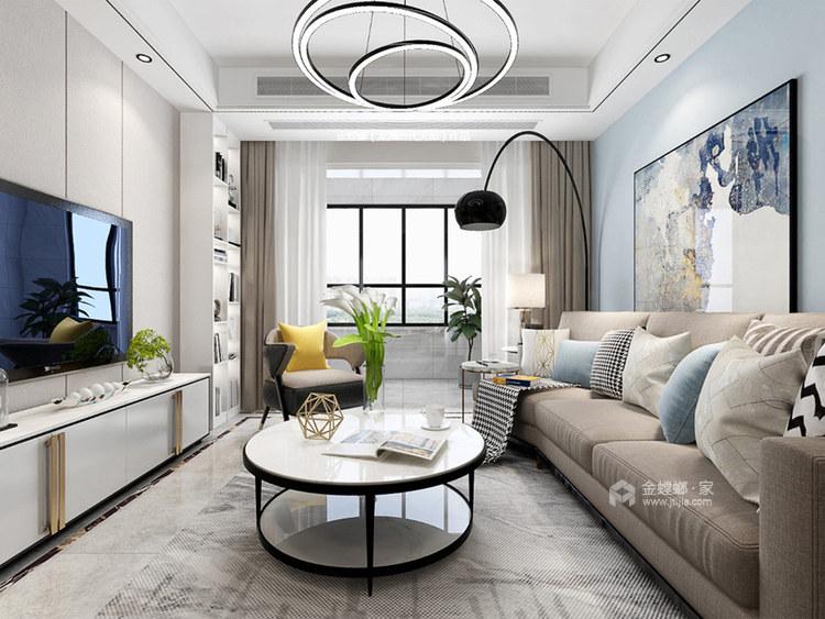 120平龙湖时代天街现代风格-客厅效果图及设计说明