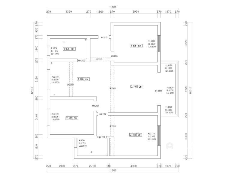 130平淞泽家园新中式风格-传统亦是传承-业主需求&原始结构图
