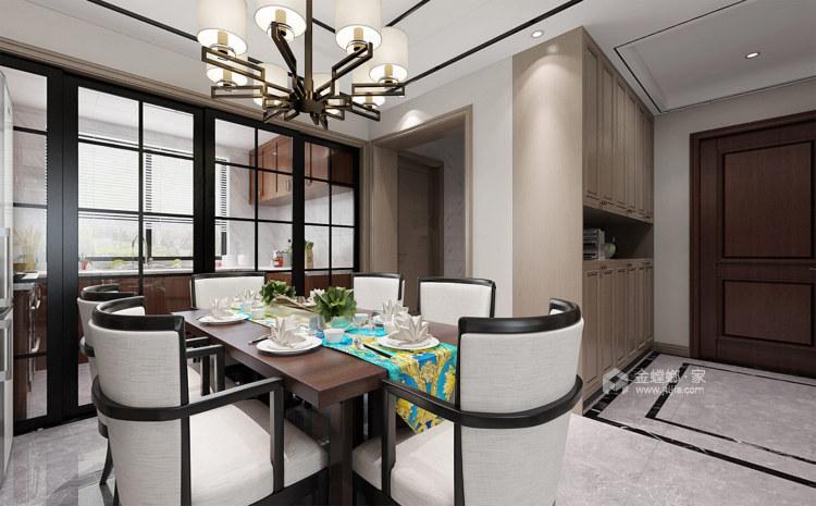 130平淞泽家园新中式风格-传统亦是传承-餐厅效果图及设计说明