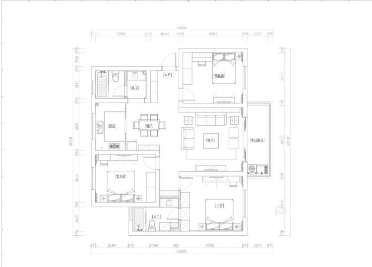130平淞泽家园新中式风格-传统亦是传承-平面设计图及设计说明