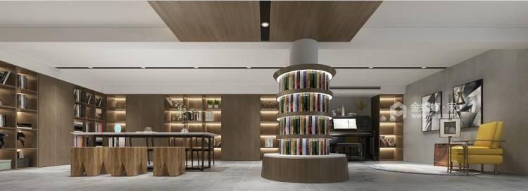 460平中信森林湖现代风格-现代极简完美生活-餐厅效果图及设计说明