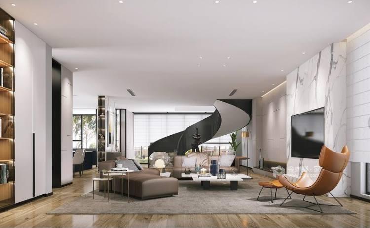 460平中信森林湖现代风格-现代极简完美生活-客厅效果图及设计说明