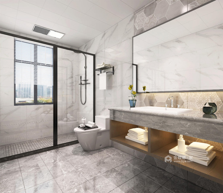 130平淞泽家园新中式风格-传统亦是传承-卫生间