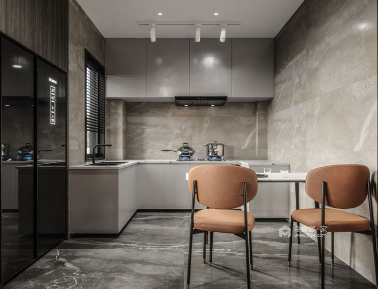 550平东港景园现代风格-简约而又有质感的都市生活-餐厅效果图及设计说明