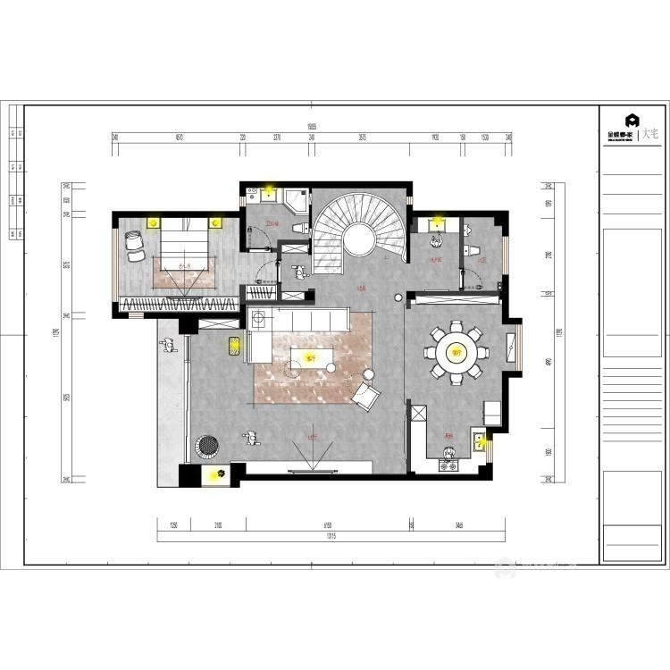 550平东港景园现代风格-简约而又有质感的都市生活-平面设计图及设计说明