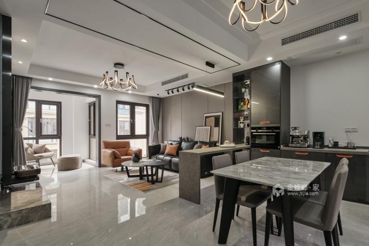 220平枫丹壹号现代风格-餐厅效果图及设计说明