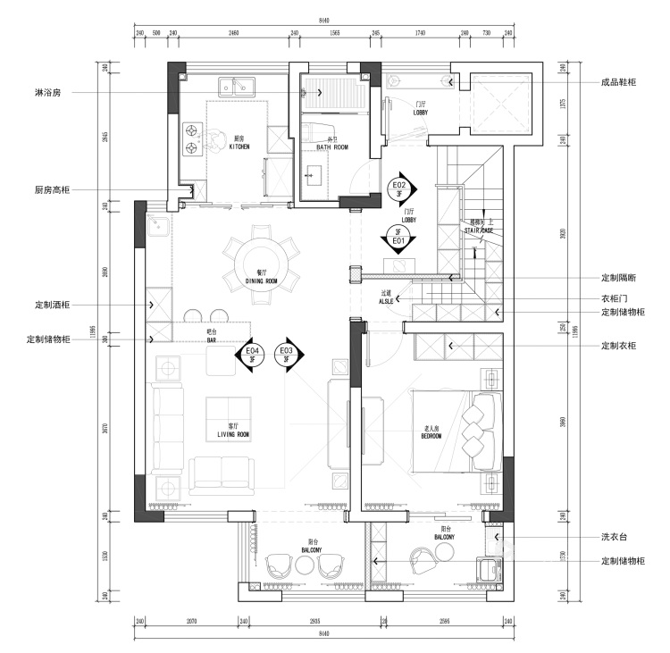 220平枫丹壹号现代风格-平面设计图及设计说明