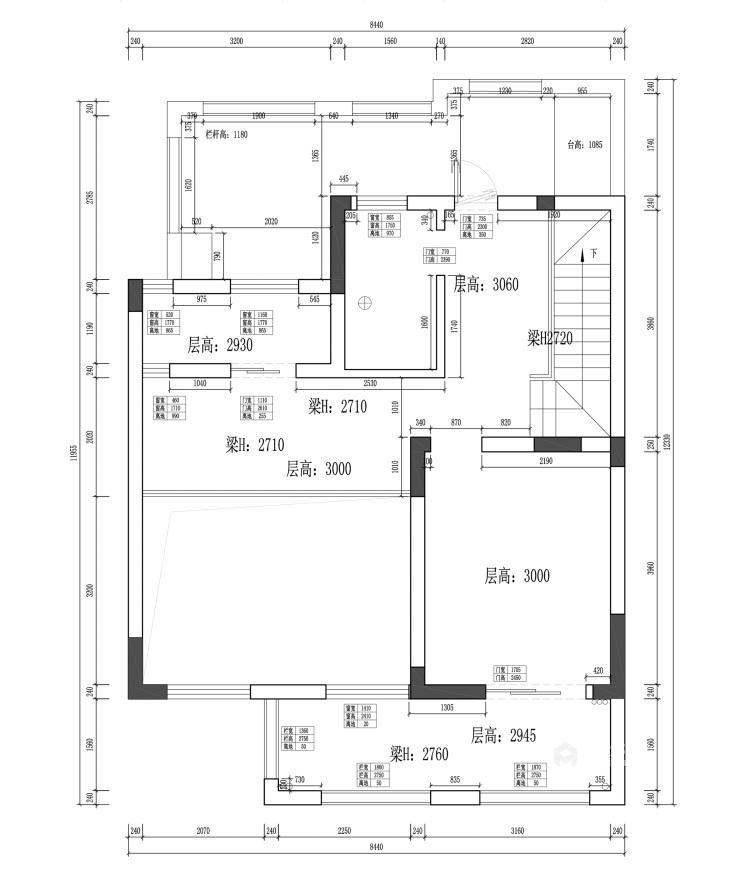 220平枫丹壹号现代风格-业主需求&原始结构图