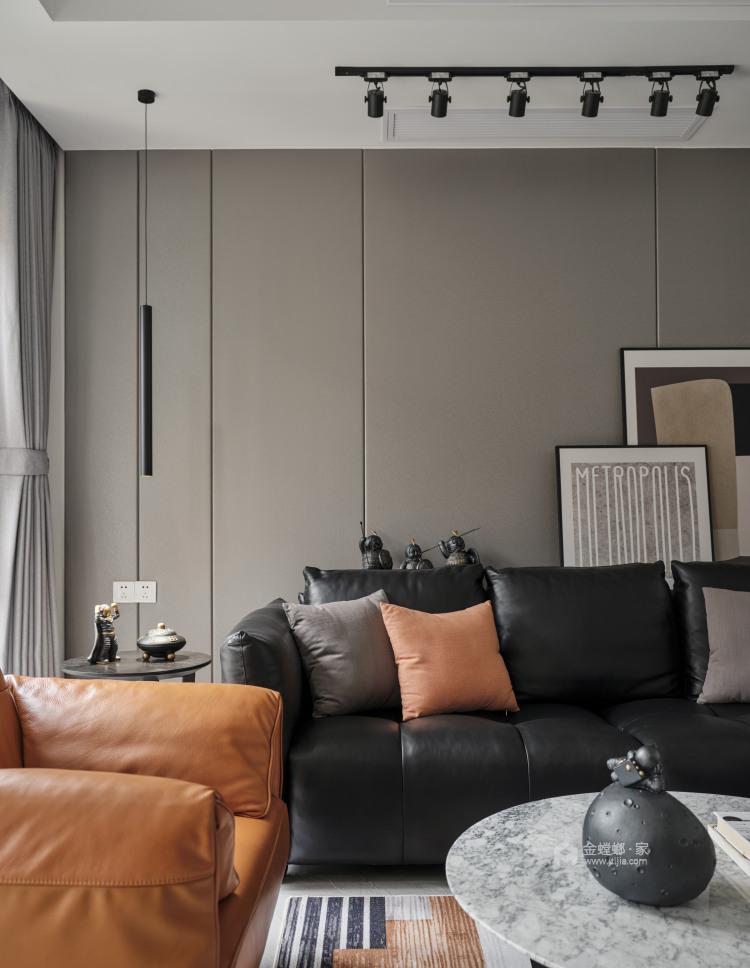 220平枫丹壹号现代风格-客厅效果图及设计说明