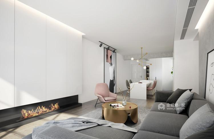 150平碧泉山庄现代风格-客厅效果图及设计说明