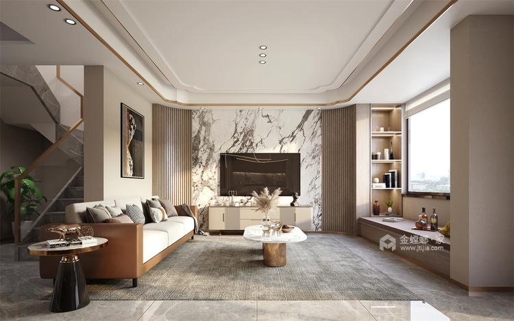 118平国瑞熙墅现代风格-客厅效果图及设计说明