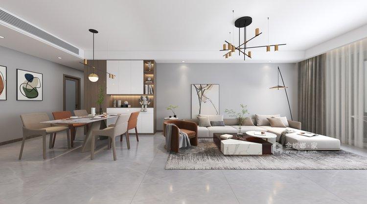 143平御湖宸院现代风格--浅艺-餐厅效果图及设计说明