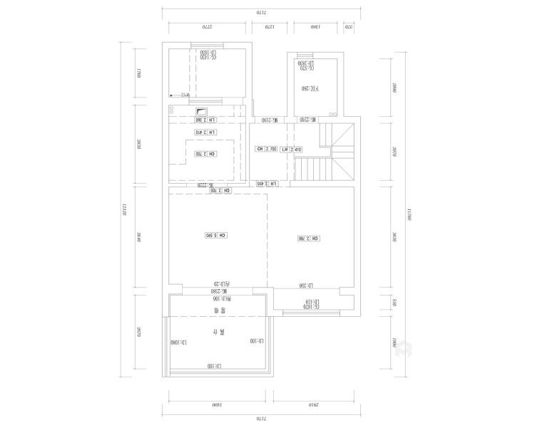 118平国瑞熙墅现代风格-业主需求&原始结构图