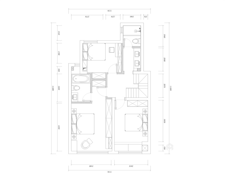 118平国瑞熙墅现代风格-平面设计图及设计说明