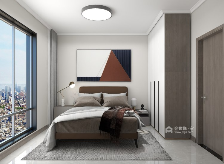 88平同德悦庭现代风格-给你不一样的感受-卧室