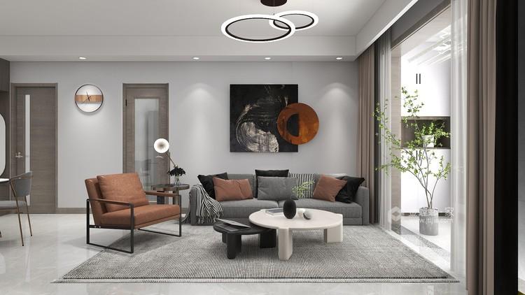 88平同德悦庭现代风格-给你不一样的感受-餐厅效果图及设计说明