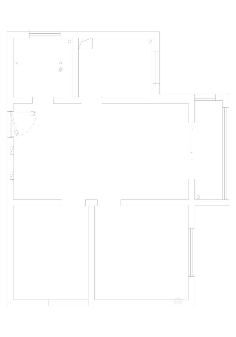 88平同德悦庭现代风格-给你不一样的感受-业主需求&原始结构图
