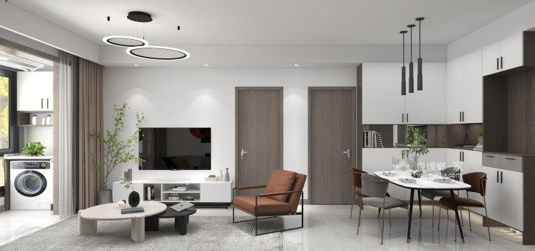 88平同德悦庭现代风格-给你不一样的感受-客厅效果图及设计说明