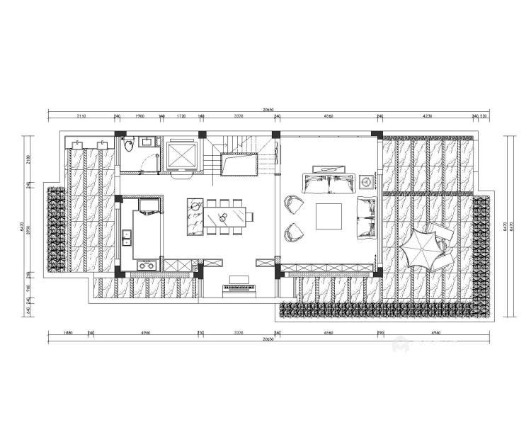 200平中航樾园新中式风格-业主需求&原始结构图