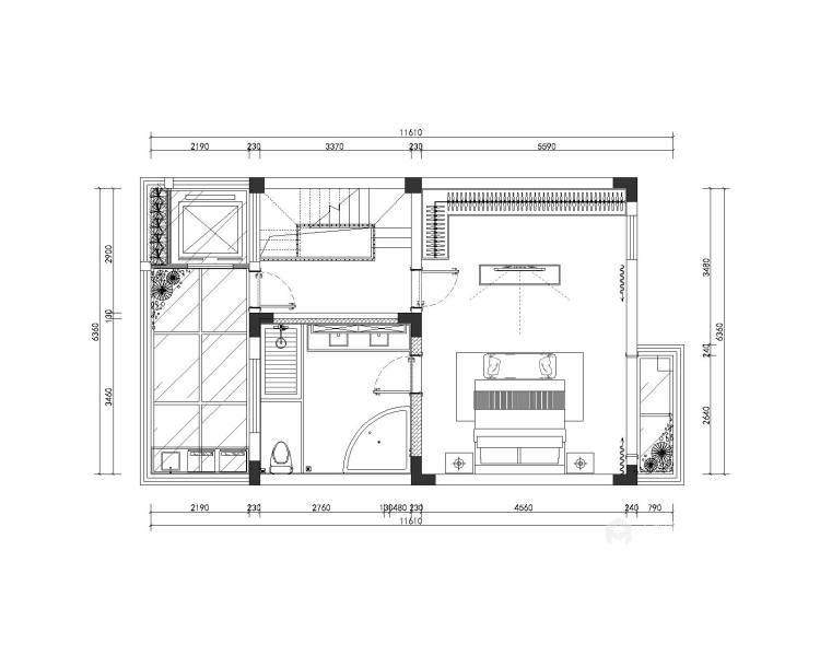 200平中航樾园新中式风格-平面设计图及设计说明