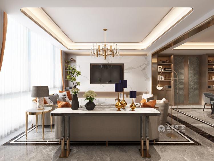200平中航樾园新中式风格-客厅效果图及设计说明