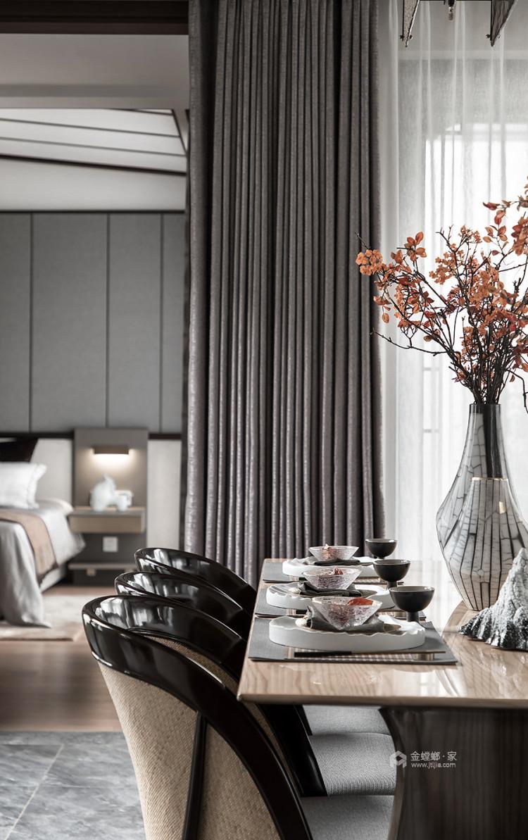 130平北京风景新中式风格-一花一木,满庭芳华-客厅效果图及设计说明