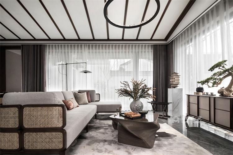 130平北京风景新中式风格-一花一木,满庭芳华-平面设计图及设计说明