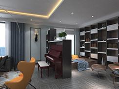 190平现代美式,梦想中的家就是这样的-金鹰平墅小区190平米三居美式装修案例