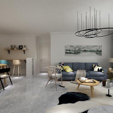 看116㎡二手房如何改造成舒适北欧风-逸秀园小区116平米二居北欧装修案例