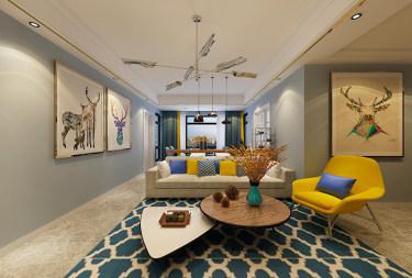 100㎡现代风格两居,简洁大方有格调的家!