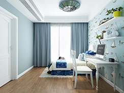 120²美式家,享受浪漫优雅生活-中南锦苑小区120平米三居美式装修案例