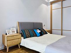 97㎡的婚房不仅貌美如花,满满高级感,怎么住都踏实!-monica小区97平米3室北欧装修案例