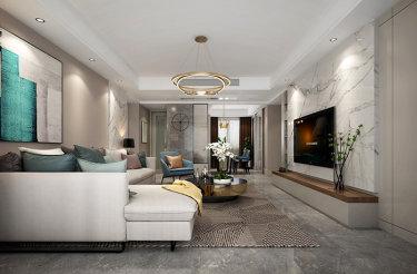 146现代轻奢的优雅舒适的生活空间