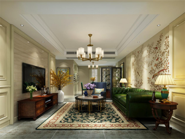 这家设计把精致和复古融到精髓里了!-滨江一号小区133平米3室美式装修案例