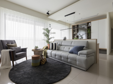 灰冷风格的现代风格美居,简洁干净-凰家公元小区140平米3室现代装修案例