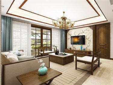 135平新中式三居室,享受茶艺之道淳朴生活