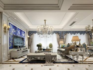 165平轻奢典雅欧式风,香槟金与象牙白的完美搭配