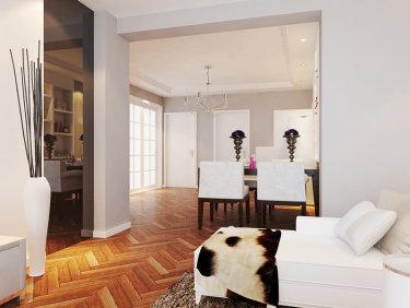 90平米现代简约风格,空间通透,舒适美观