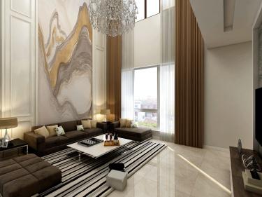 260平自建别墅现代风格精装修