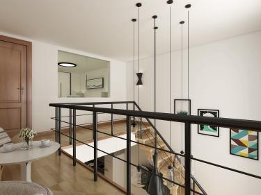 简练干净的40平小复式-东方时尚中心小区40平米1室现代装修案例