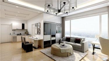68平米小家装出高级感,公寓也能这么装-钻石广场公寓楼小区68平米1室现代装修案例