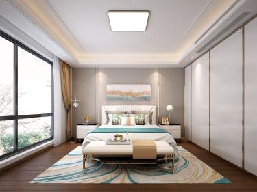 246平现代风格美家,轻奢质感-中航樾园小区246平米别墅现代装修案例